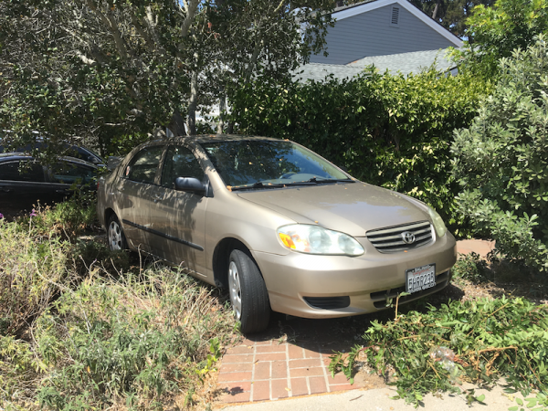 toyota corolla 2004 for sale in monterey ca salvage cars. Black Bedroom Furniture Sets. Home Design Ideas